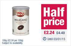 Milicano Coffee 100g at Co-op £2.24