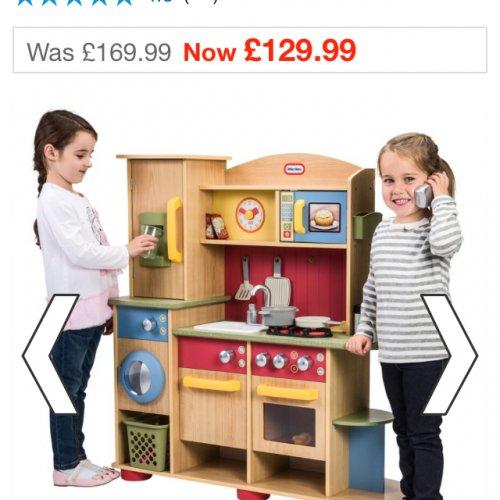Little tikes premium wooden kitchen £117.99 delivered @ smyths with voucher
