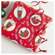 Reindeer And Robin Christmas Wrap 30M for £4.00 @ Tesco Direct