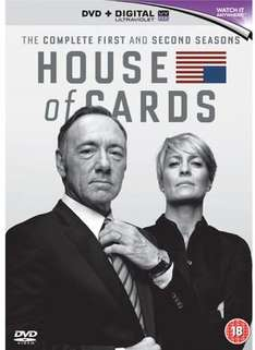 House of Cards: Season 1 and 2 (DVD) Only £14.99 @ Xtra-Vision Free Delivery