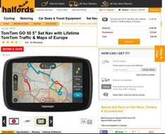 Tomtom go 50 FULL Europe Map with lifetime Update £99 @ Halfords