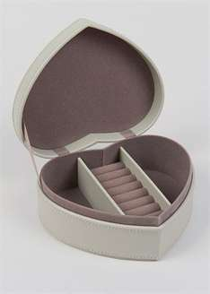 Matalan heart shaped jewellery box reduced from £15 to £7 and smaller one for £5