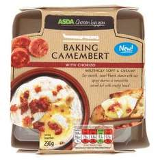 ASDA Camembert with Red Onion Relish or Chorizo with free dish £3.00