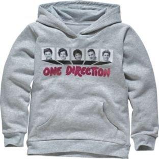 One Direction Girls' Grey Hoodie - was £16.99 now £6.66! Argos