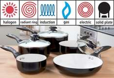 5 Piece Pan Set Suitable for Induction Hobs £26.99 delivered with code @ 24Studio