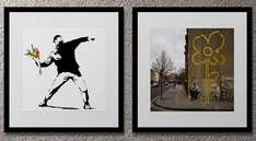 sale of framed Banksy prints at Achica - £34.99 incl postage