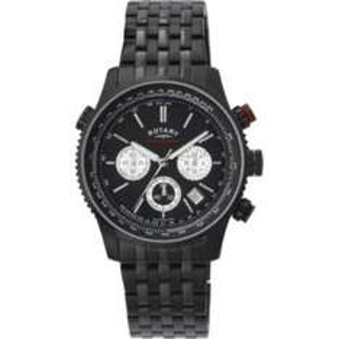 Rotary Men's Black Chronograph Bracelet Watch £55.99 with code JINGLE20 @ Argos