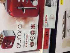 breville aurora red 4 slice toaster only £15.00 instead of £49.99 in sainsburys