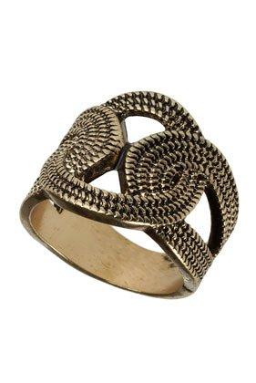 Topshop linked circles ring size small £1.50