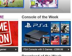 £399 PS4 With five Games @ Game.co.uk