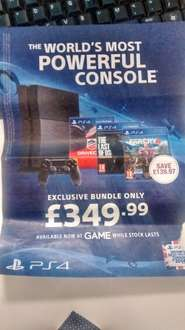 PS4 Bundle - Driveclub, TLOU & Farcry4 £349.99 @ Game from 11th