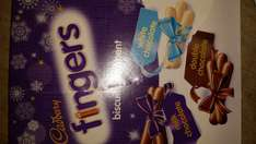 Cadburys fingers trio of milk, white and dark chocolate giftbox £1.99 @ Home Bargains