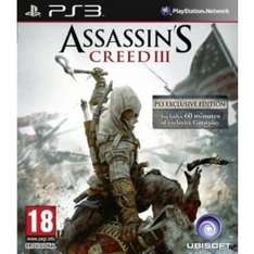 Assassin's Creed 3 (PS3) online @ Tesco £4
