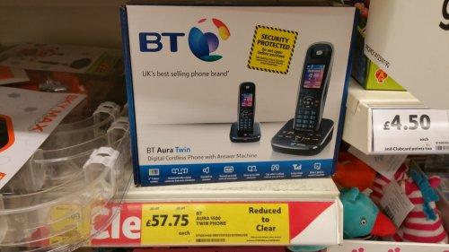 BT Aura 1500 twin cordless phone £57.75 @ Tesco