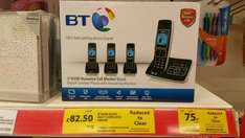 BT6500 quad cordless phone, £82.50 was £110 @ Tesco