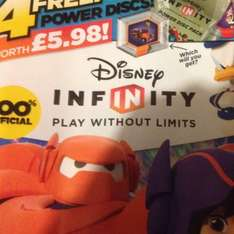 Disney infinity magazine December issue £2.99 including 2 packs of power discs