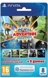 PS Vita 8GB Adventure Pack (Tearaway, Uncharted: Golden Abyss, Gravity Rush, Escape Plan and TxK) £19.99 Delivered @ Grainger Games
