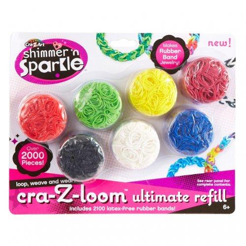 Crazy Loom Refill Pack -Stocking Filler Over 2000 Refill. £1.00 @ smyths toys