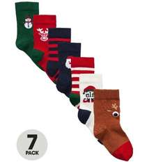 7 Pack of Christmas Socks (Boys Sizes) @ Very from £3.36