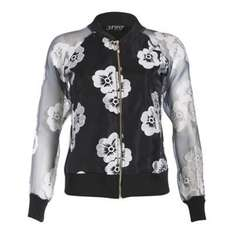 Jumpo London Black Flower Bomber Jacket £10 @ Debenhams