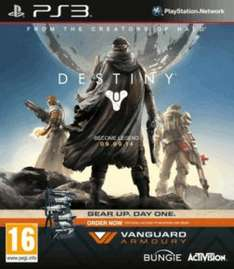 Destiny + Vanguard - Only at GAME (PS3) £24.99 Delivered @ Game (Standard Versions Same Price X360/PS3)