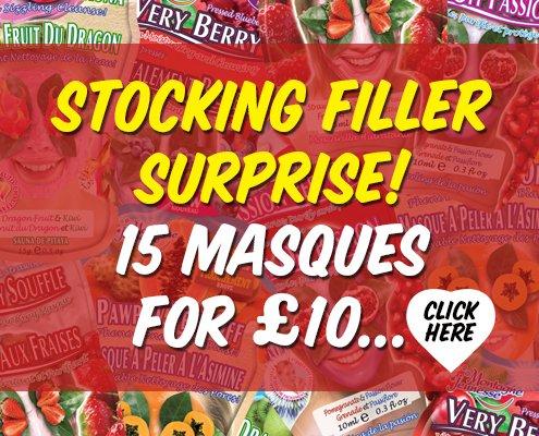 Stocking Filler Surprise 15 Face Masques for £10 @ Montagne Jeunesse