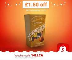 Enter 14LLCA into the Shopitize app for £1.50 off Lindt Lindor Assorted Chocolate Truffles (200g). £3.50 @ Tesco = £2 (potentially £1.79)...