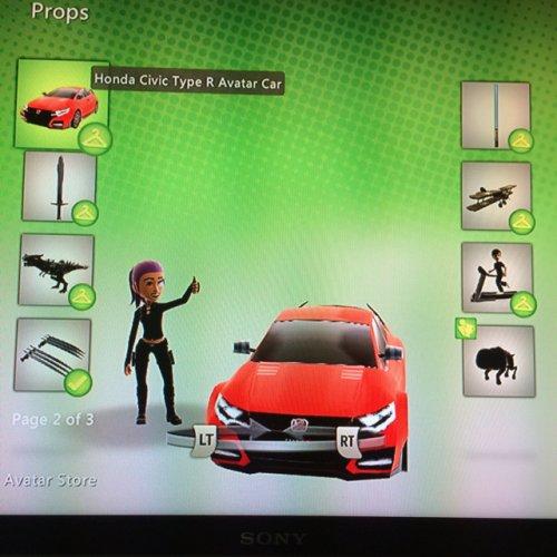Free Honda Car Xbox avatar prop
