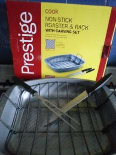 Prestige Non stick Roaster and Rack with carving Set £7.50 reduced from £30 at Tesco