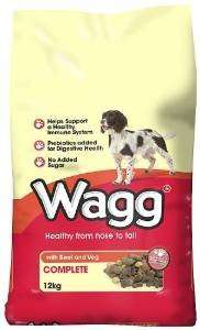 Wagg Complete dog food 12kg beef &veg/chicken &veg NOW £9@amazon free delivery