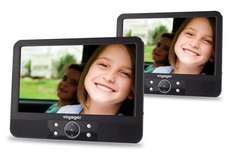 Voyager 9 inch Twin Screen In Car Portable DVD Player with Easy Fit Mount £89 delivered at Amazon