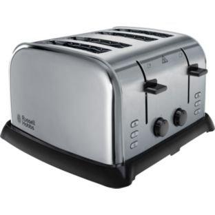 Argos :: Russell Hobbs 21460 Stainless Steel 4 Slice Toaster. £27.49