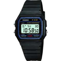 Casio Classic F-91W-1YER Mens Casual Water Resistant Digital Watch - Black £6.75 includes delivery @ 7dayshop.com