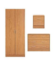 wardrobe, chest of drawers and beside table only £41.99 bargain crazy!