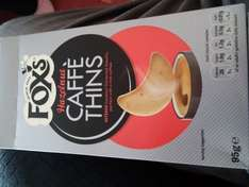 Fox's Hazelnut Caffe Thins Poundstretcher 39p
