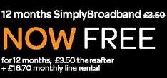 ENDS TODAY. 12 months SimplyBroadband NOW FREE!! Plus £16.70 line rental and a £100 shopping voucher! + pos some quidco cashback