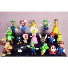 """18pcs Set 1-3"""" Super Mario Bros Figure Toy Doll Pvc Figure Collectors By sanlise - £12.79 LAIE. and Fulfilled by Amazon"""