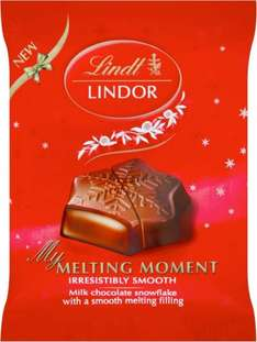 Lindt Lindor My Melting Moment Truffle Snowflake (20g) was 75p now 3 for £1.00 @ Sainsburys