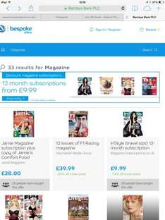 12 month magazine subscriptions from £9.99 at Bespoke offers