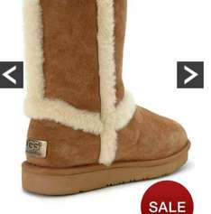 Ugg ankle boots exposed fur chestnut just £82 after codes @ Very
