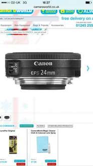 NEW Just arrived canon EFS 24mm f2.8 pancake STM lens (RRP £179.99) only £135.00 delivered cameraworld