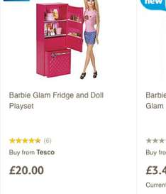Barbie with Fridge and accessories £7.00 IN STORE @ Tesco