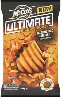 B&M McCoy's Ultimate Crisps - Chargrilled Steak & Peri Peri (150g) & Sizzling Barbecue Chicken (150g) 49p