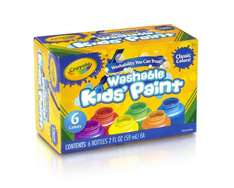crayola washable kids paints from £3.99 @ amazon  (free delivery £10 spend/prime)
