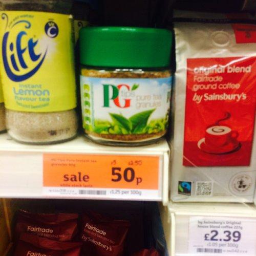 Pg tips tea granules 50p at sainsbury's