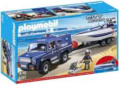 Playmobil City Action 5187 Police Truck with Speedboat £17.51 at Amazon