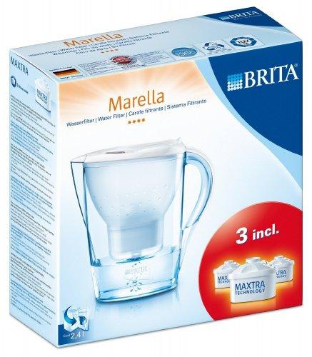 BRITA Marella Cool White Starter Pack includes 3 Cartridges - £15.27 @ Amazon