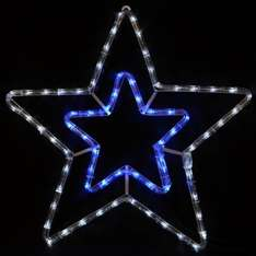 Flashing Star Rope Light With Blue / White LED Lights & White Metal Frame Price: £19.99  delivered @ Amazon/XS-Stock Com Ltd