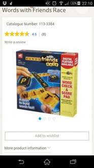 Words with Friends Race £3 + £3pp@ Tesco Direct / The Entertainer
