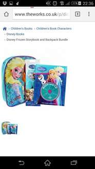 Disney Frozen Storybook and Backpack Bundle £9.99 @ The Works